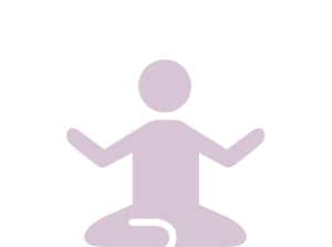 Illustration of a person sitting cross-legged in a relaxed, meditative pose