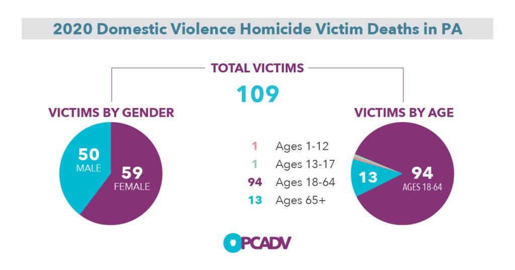 2020 Pennsylvania Domestic Violence Victims Demographics Chart